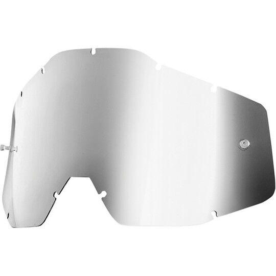 100% lente mirror silver originale per occhiali  racecraft accuri e strata