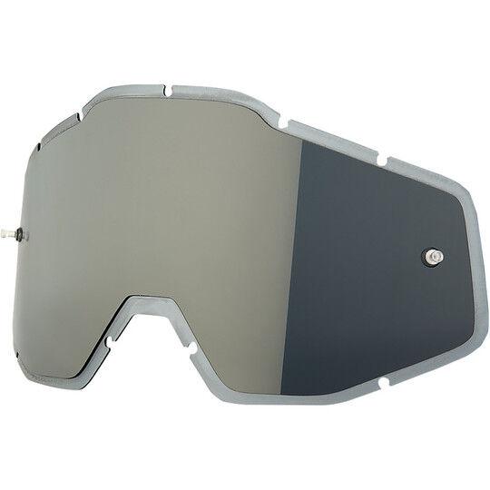 100% lente specchio silver pre-curvata originale per occhiali  racecraft accuri e