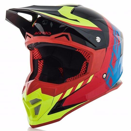 Acerbis Casco moto cross enduro acerbis profile 4.0 nero/blu lucido