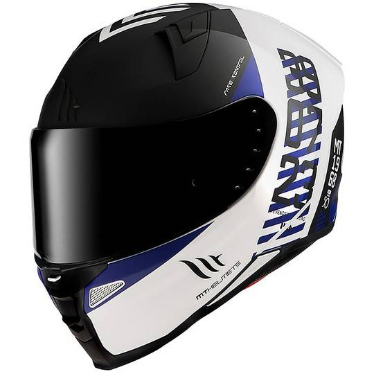 MT Helmets Casco moto integrale mt helmet revenge 2 chrono a7 bianco blu opaco