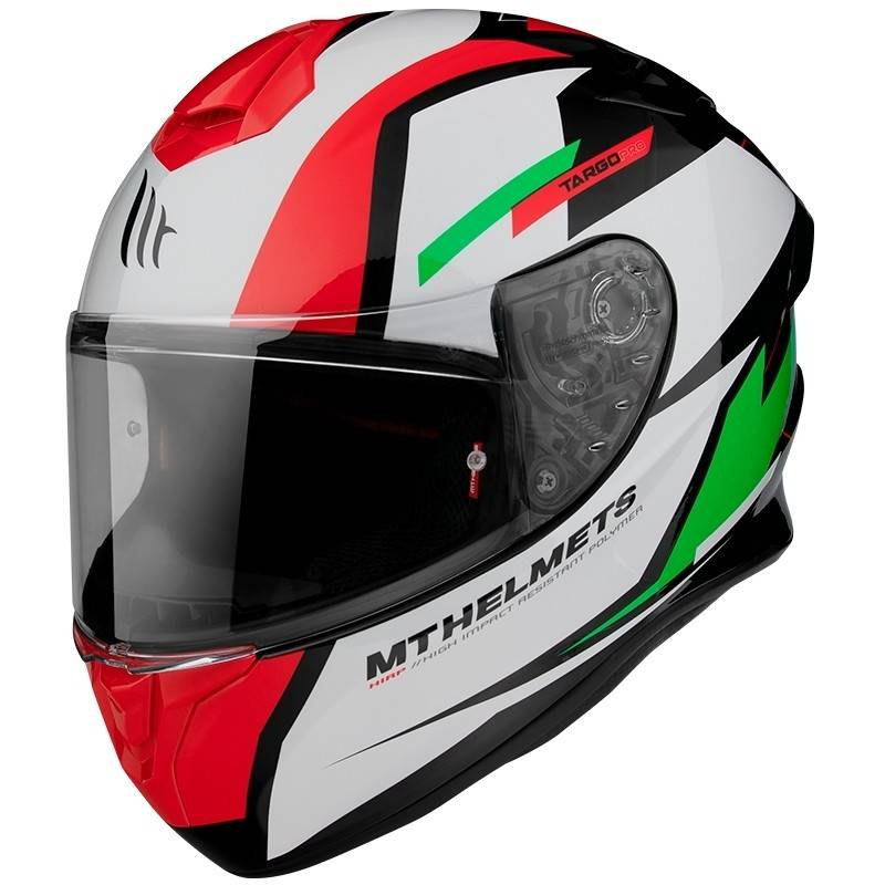 MT Helmets Casco moto integrale mt helmet targo pro sound c6 verde bianco lucido