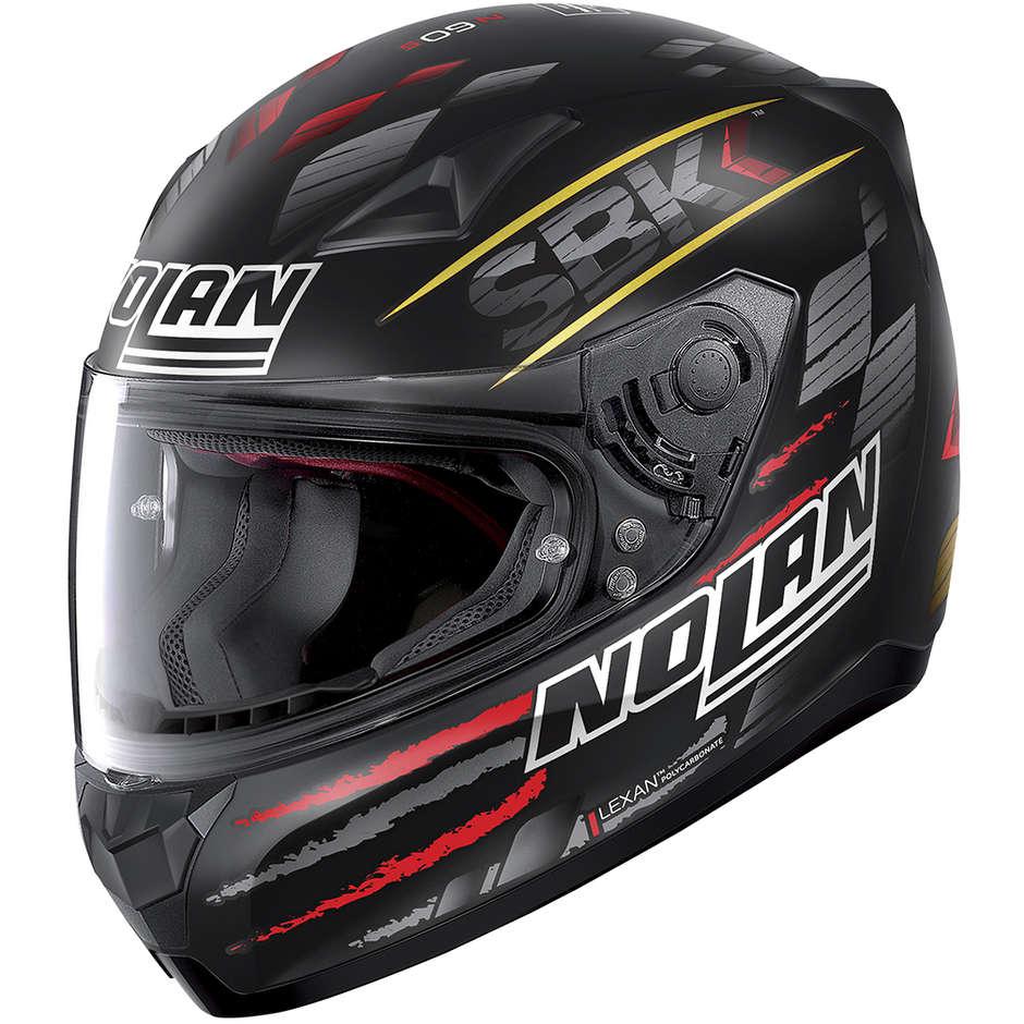 Nolan Casco moto integrale nolan n60.5 sbk 084 nero opaco rosso