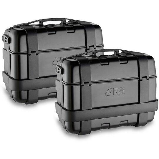 Givi Coppia di valigie laterali monokey givi trk33b black line trekker 33 litri