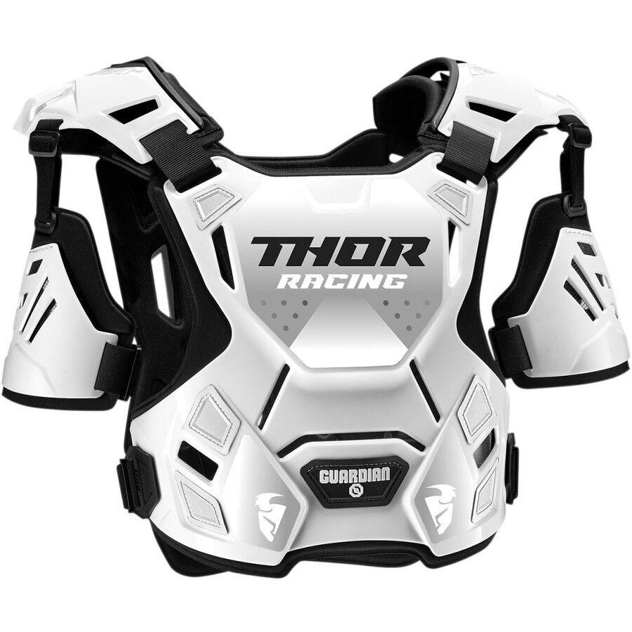Thor Pettorina moto cross enduro thor guardian roost guard s20 deflectorn bianco