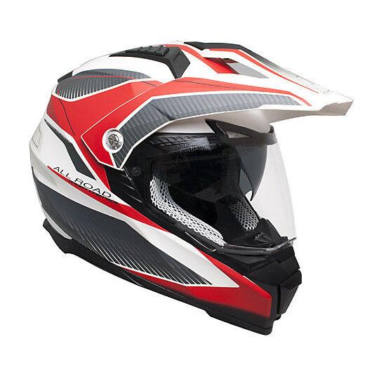 cgm casco moto integrale doppia visiera cgm 606g forward rosso opaco