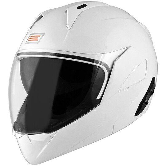 Origine Casco moto modulare origine riviera doppia visiera bianco lucido