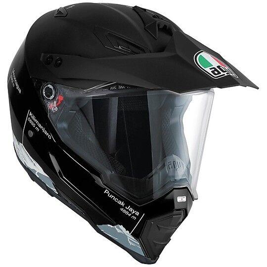 Agv Casco moto cross enduro agv ax-8 dual evo multi wild frontier nero bianco