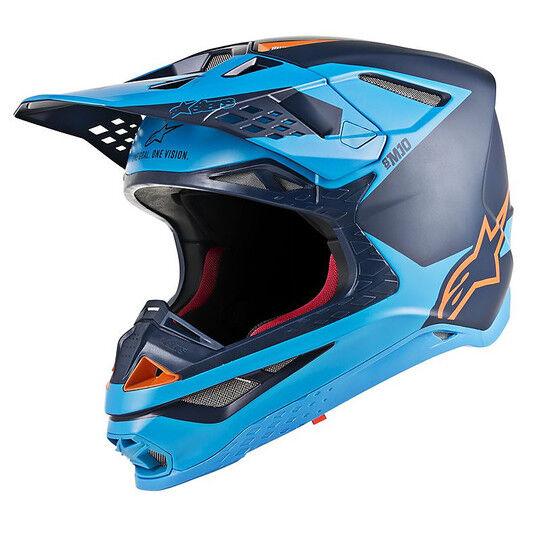 Alpinestars Casco moto cross enduro alpinestars supertech s m10 meta nero acqua arancio fluo