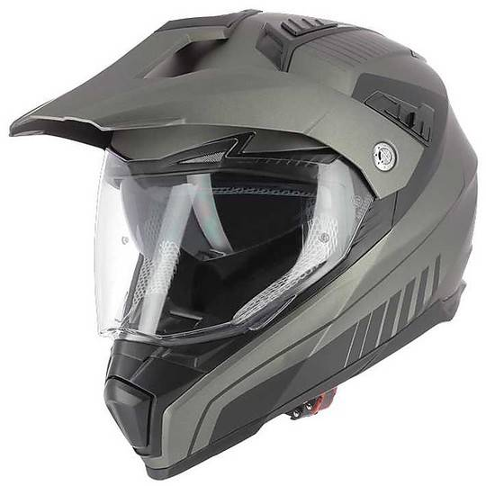 astone casco moto cross enduro astone crossmax shaft titanio opaco