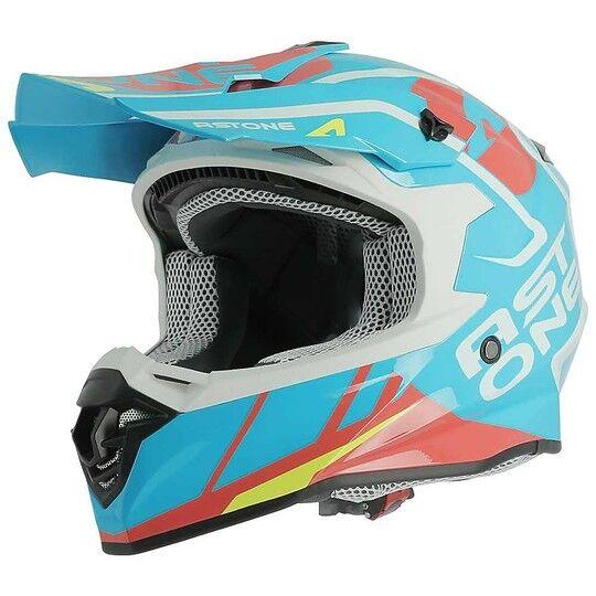 astone casco moto cross enduro astone mx800 trophy blu