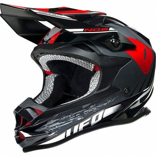 Ufo Casco moto cross enduro ufo onyx nos nero bianco rosso