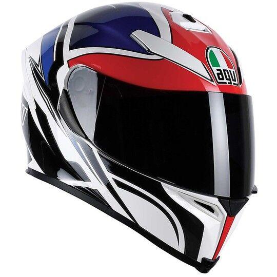Agv Casco moto integrale agv k-5 new 2015 multi roadracer bianco rosso blu