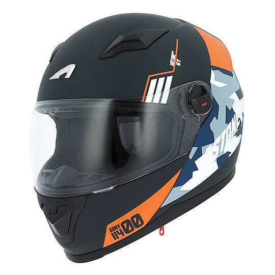 Astone Casco moto integrale astone gt2 multi army nero arancio