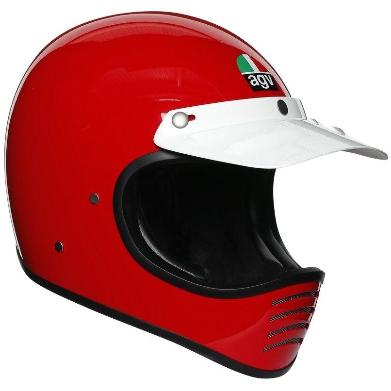 agv casco moto integrale custom agv legend x101 mono red rosso