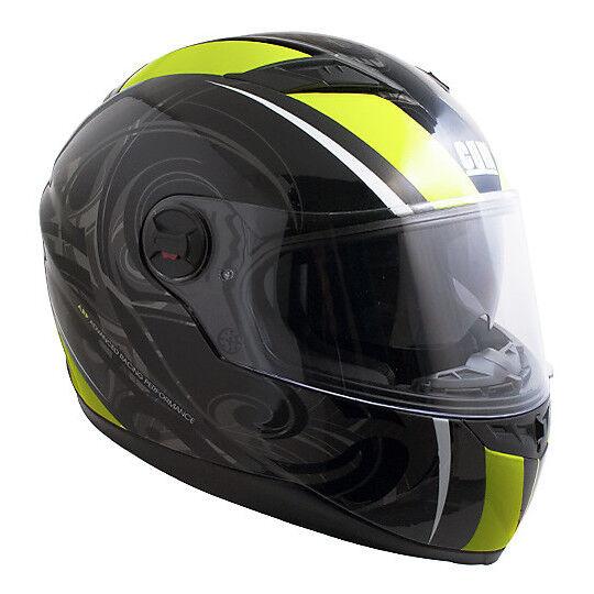Cgm Casco moto integrale doppia visiera cgm los angeles nero giallo fluo