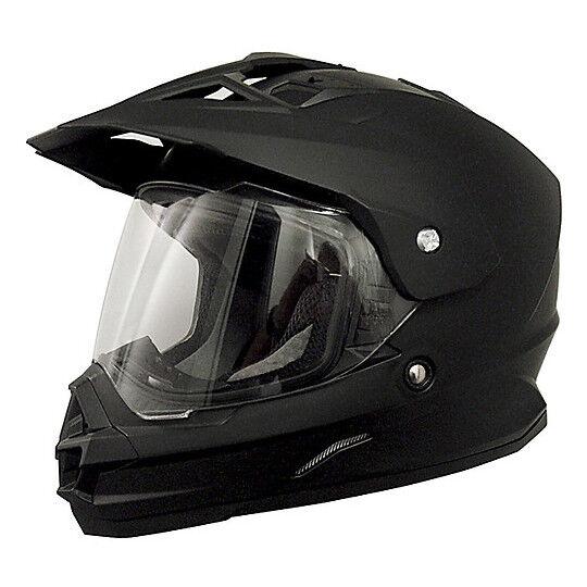 Afx Casco moto integrale dual sport afx fx-39ds mono nero opaco