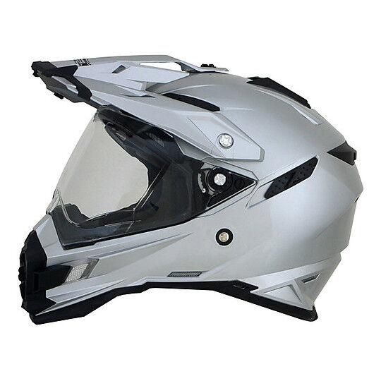 Afx Casco moto integrale dual sport afx fx-41ds monocolore silver