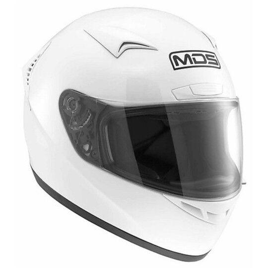 Mds Casco moto integrale mds by agv m13 mono bianco lucido