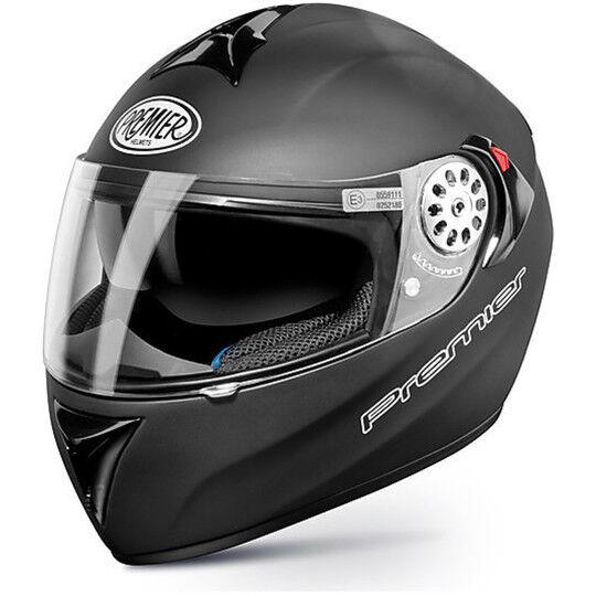Premier Casco moto integrale premier angel monocolore nero opaco doppia visiera