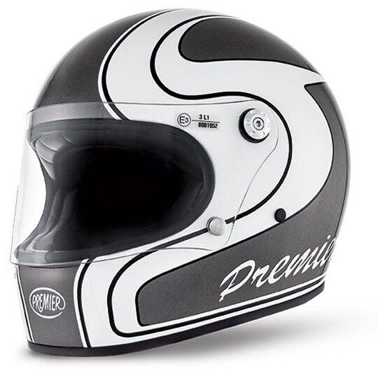 Premier Casco moto integrale premier trophy stile anni 70 colorazione m grey
