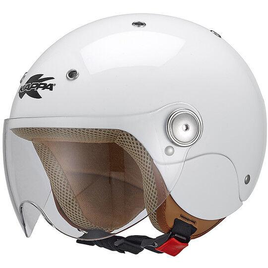 Kappa Casco moto jet bambino bubble j03 bianco lucido