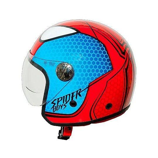 one casco moto jet bambino one junior spiderman boys