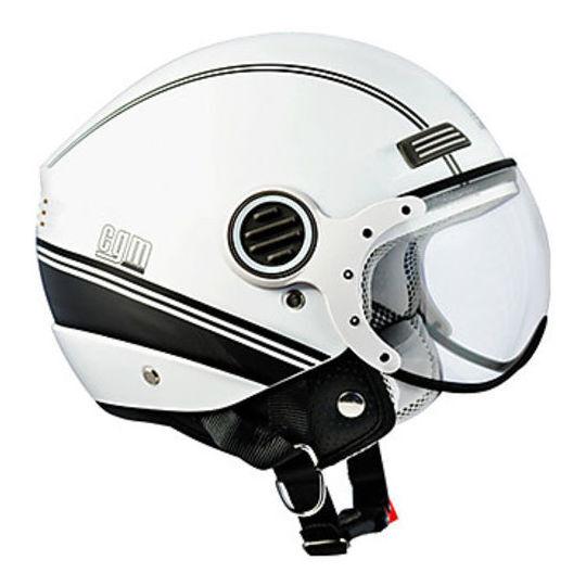 Cgm Casco moto jet cgm modello 107l-dsa st.moritz bianco metal