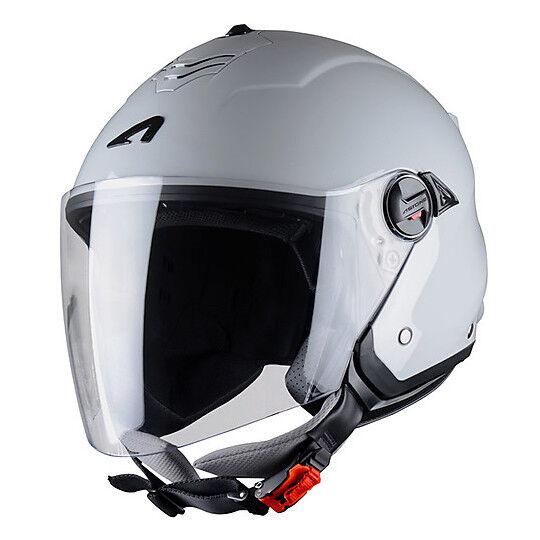 Astone Casco moto jet doppia visiera astone minijet s grigio chiaro