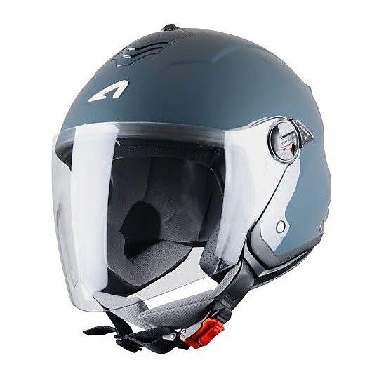 Astone Casco moto jet doppia visiera astone minijet s grigio scuro