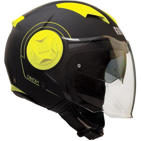 Cgm Casco moto jet doppia visiera cgm 129s dixon giallo fluo opaco