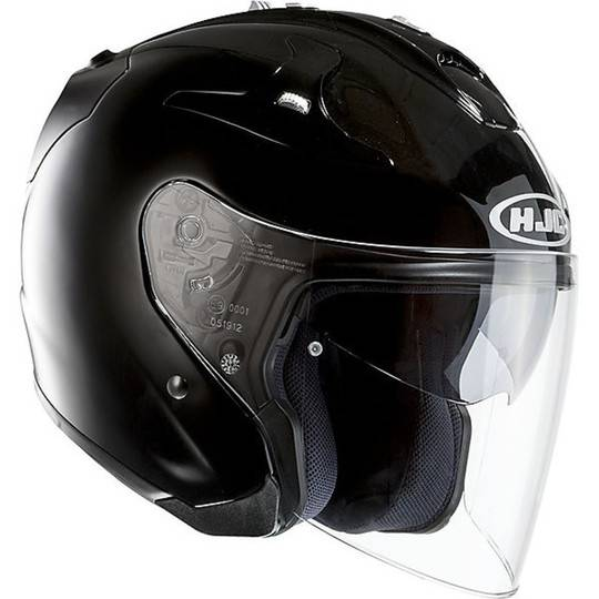 Hjc Casco moto jet hjc in fibra silver fg-jet nero lucido