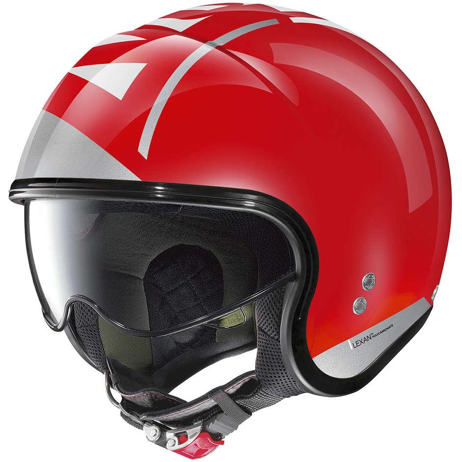 nolan casco moto jet nolan n21 avant-garde 097 rosso corsa