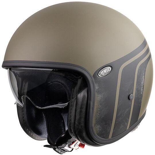 Premier Casco moto jet vintage in fibra premier vintage evo btr military green bm