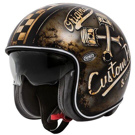 Premier Casco moto jet vintage in fibra premier vintage evo op 9 bm