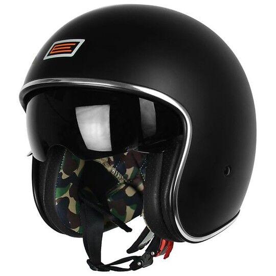Origine Casco moto jet vintage origine sprint visierino interno nero opaco camo