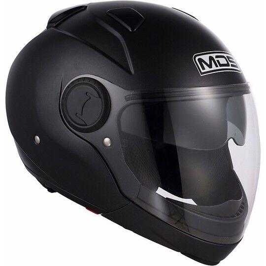 Mds Casco moto mds by agv sunjet mentoniera staccabile mono nero opaco