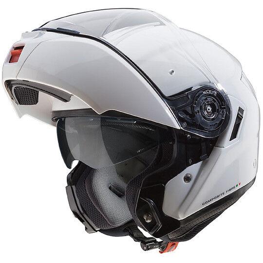 caberg casco moto modulare in fibra caberg levo bianco metal