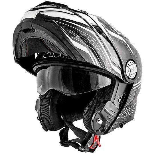 givi casco moto modulare p/j givi x.33 canyon layers nero bianco