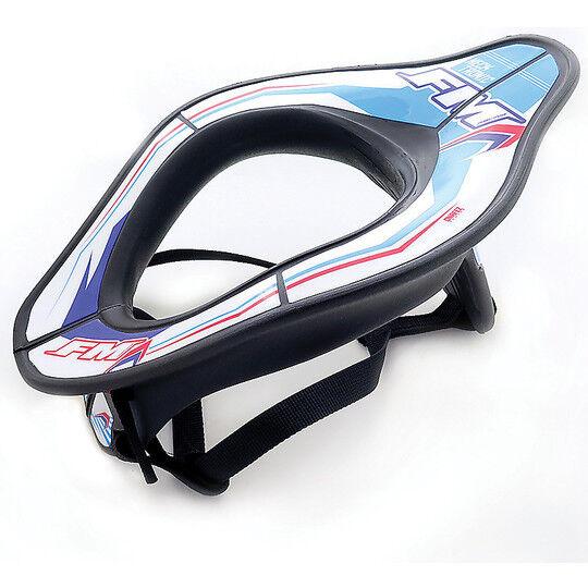 Fm racing Collare moto tecnico fm racing neck tronic nero bianco blu