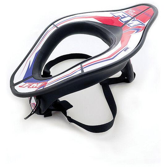 Fm racing Collare moto tecnico fm racing neck tronic nero bianco rosso