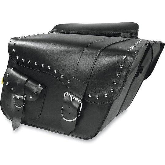 willie&max coppia borse moto laterali inclinate willie&max; ranger super con borchie