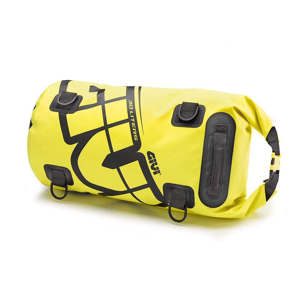 givi borsa rullo da sella o portapacchi givi ea114c impermeabile giallo fluo