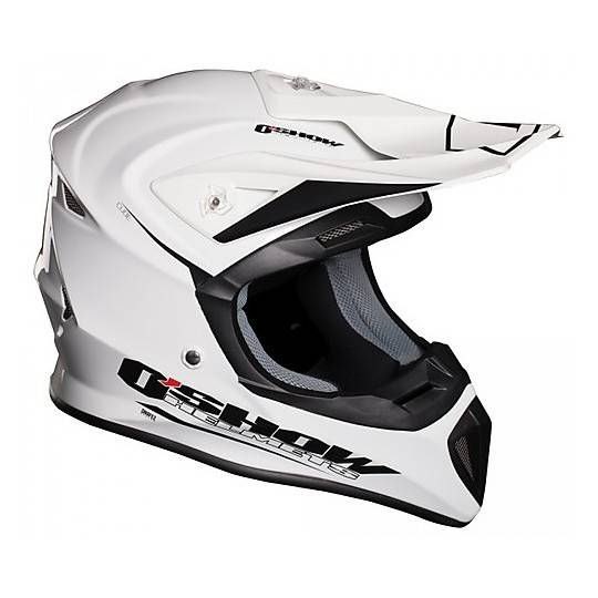 Fm racing Casco moto cross enduro fm racing in fibra cube bianco lucido