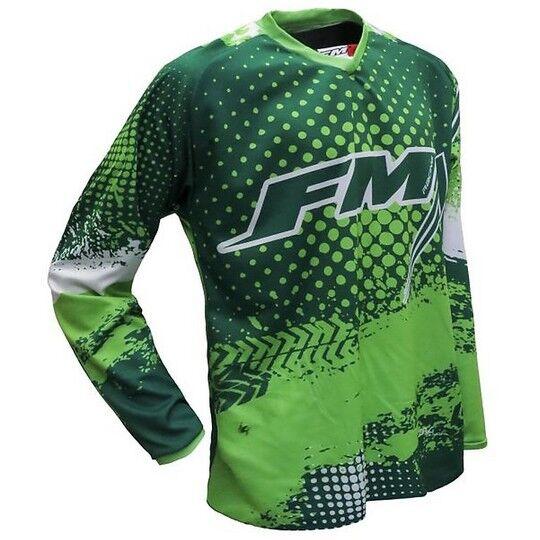 Fm racing Maglia moto cross enduro fm racing x26 force 003 verde fluo