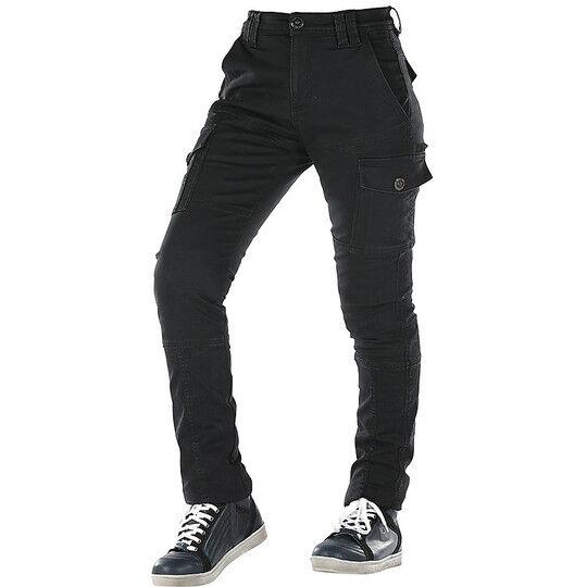 overlap pantaloni da donna jeans moto ce overlap carpenter lady nero