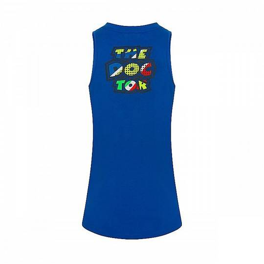 VR46 Canotta donna vr46 classic collection pop art tank top blu