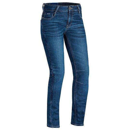 Ixon Pantaloni jeans donna moto certificati ixon cathelyn stonewash