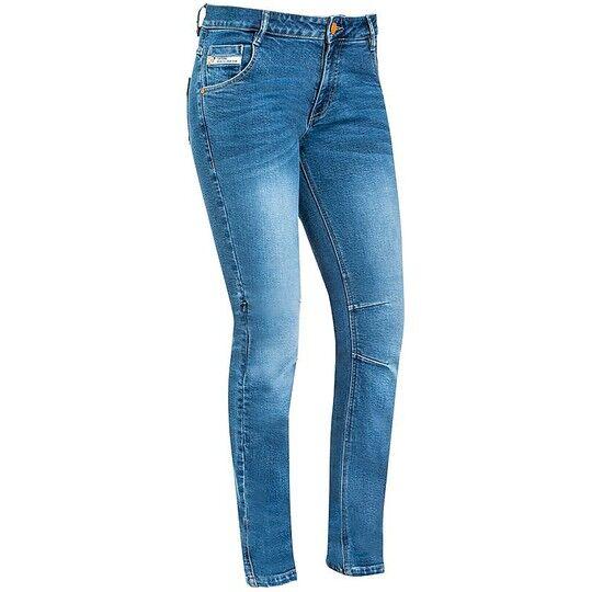Ixon Pantaloni donna jeans moto certificati ixon mikki stonewash