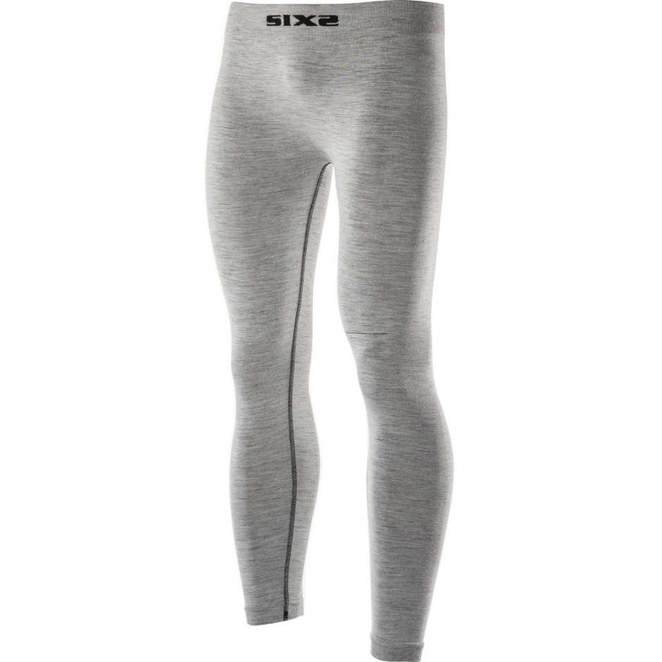 sixs pantaloni leggings lunghe sixs pnx carbon merinos wool grigio