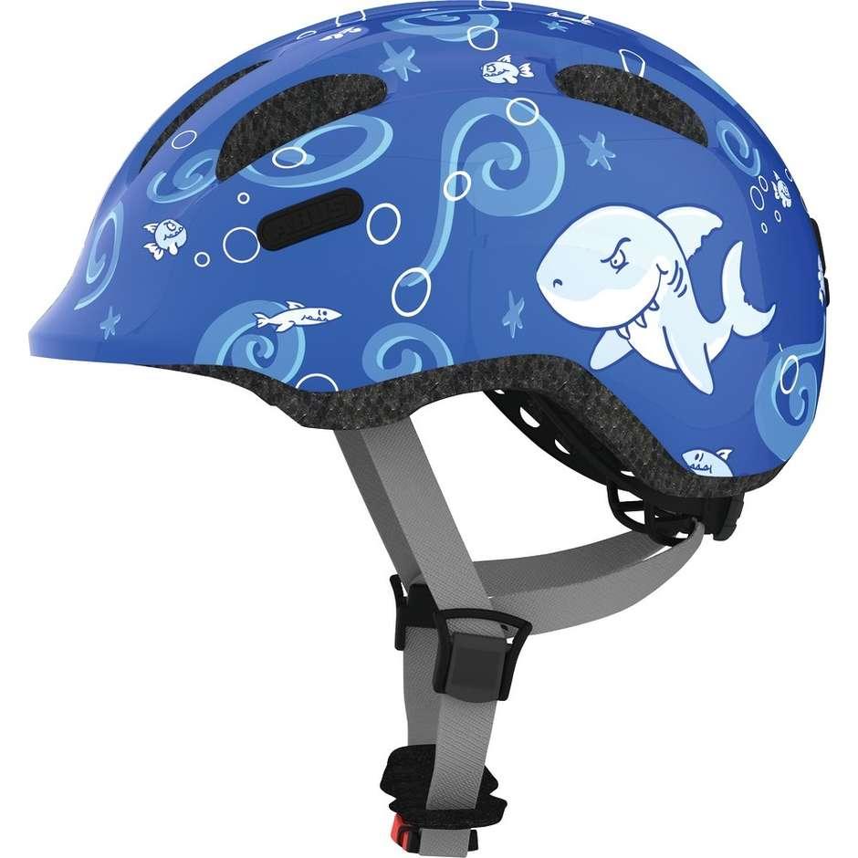 Abus Casco bici abus da bambino smiley 2.0 blue shark
